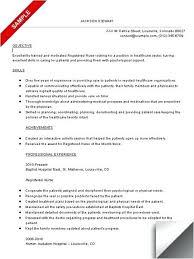 Professional Objective For Nursing Resume Good Objective For Nursing Resume 14