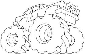 Monster Truck 76 Transportation Printable Coloring Pages