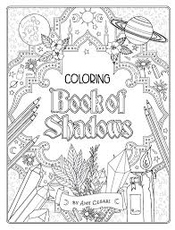 coloring book of shadows witchcrafty