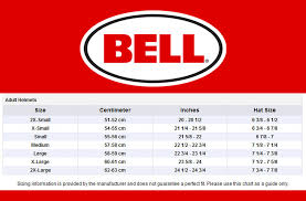 Bell Size Chart Bell Size Chart Sydney City Motorcycles