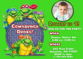 ninja turtle birthday invitations uk ideal turtle birthday party invitations