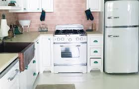What Is Backsplash Amazing Retro Kitchen Pink Tile Backsplash Big Chill Liances Stove R Luxury
