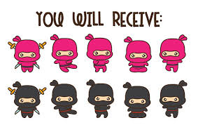 ninja party clipart. Exellent Party Ninja Clipart Kawaii Ninja Clip Art Party Cute Intended Party Clipart 2