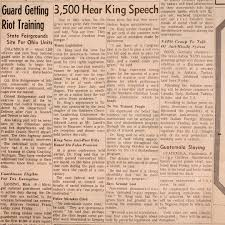 martin luther king jr in toledo the blade copy of toledo blade 23 1967 paper coverage of rev martin luther king jr to toledo