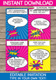 superheroes party invites superhero girl party invitations template supergirl party