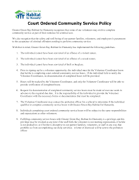 Community Service Letter For Court Sample Suitable Screenshoot
