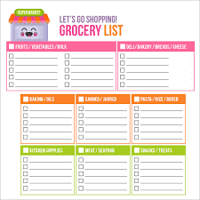 Printable Grocery List Maker Oyle Kalakaari Co