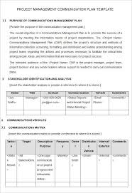Project Management Plan Template Template Business