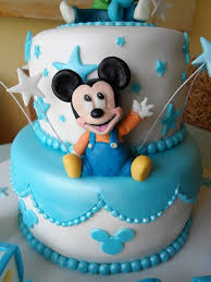 Baby Mickey Mouse Cake But Without The BABY Blocks  Baby Mickey Baby Mickey Baby Shower Cakes