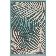 guaral teal 4 ft x 6 ft indoor outdoor area rug