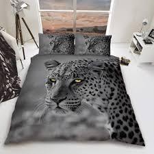 leopard big cat duvet cover bedding set