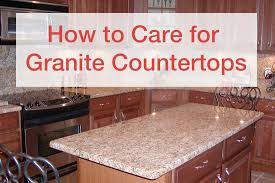 how to care for granite countertops orlando