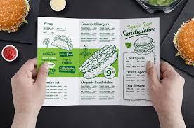 Tri Fold Burger Menu Template In Psd Ai Vector Brandpacks