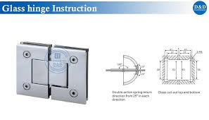 glass hinge insturction