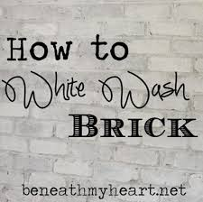 painting brick whiteHow to White Wash Brick Bathroom Update  Beneath My Heart