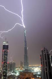 Biggest Lighting Strike Lightning Vs The Worlds Tallest Building Lightning Photos