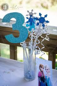 Frozen Birthday party for boy. Centerpiece