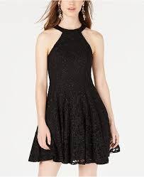 B Darlin Size Chart Juniors Glitter Lace Fit Flare Dress