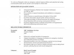Beautiful Ideas Emt Resume Examples 10 Paramedic Command Post