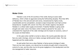 water crisis in its impact on the economy and potential  document image preview