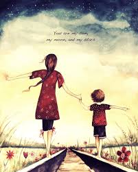 Mother And Son Love Quotes Cool Mother And Son You Are My Son My Moon And My Stars Star Art