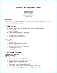 Resume Format For Driving Job Resume Resume Examples