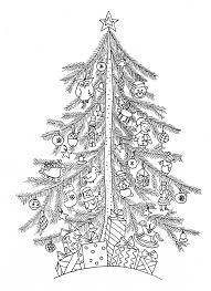 Christmas Tree Simple Christmas Adult Coloring Pages