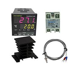 inkbird ac v itc vh digital pid thermostat temperature inkbird ac 100 220v itc 100vh digital pid thermostat temperature controller da 40a