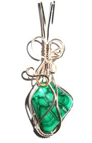 malachite crystal wire wrap unique pendant 19326 14 99 the gem tree gemstones jewellery and new age items