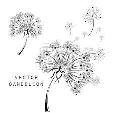 Fototapeta Hand Kreslit Pampelišky Africká Ind Floral Tetování Design