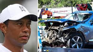 Tiger Woods car crash, accident, collision, injuries, compound leg  fracture, latest news, surgery, pictures, age