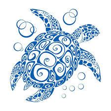 stylized sea turtle wall decal x custom size large sea turtle wall decal stylized sea turtle