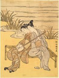 the androgynous third gender of th century all isoda kory363sai 1735 1790 samurai wakashu and maid 18th century color woodblock print