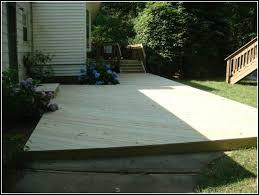 floating deck over concrete patio decks home decorating ideas deck over concrete