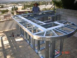 Steel Frame Outdoor Kitchen Increase In Homeowners Building Outdoor Kitchens During Recession