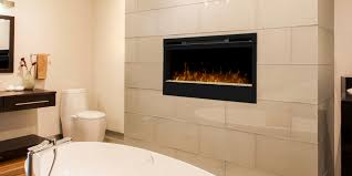 modern bathroom design with home depot electric fireplaces