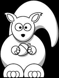 lemmling cartoon squirrel black white line art xmas stuffed coloring book colouring black white