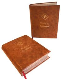 leather binding gold stamping