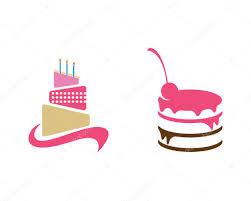 Bolo Template Cake Logo Template Stock Vector Elaelo 127404802