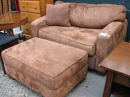 overstuffed chair with ottoman large club