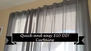 Diy Curtains How To Make Quick And Easy Diy Curtains For 10 Youtube