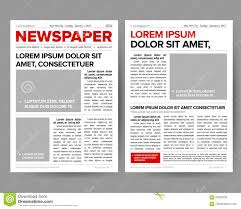 Newspaper Editorial Template Daily Newspaper Journal Design Template With Two Page