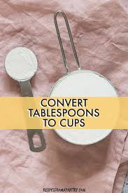 Recipe Chart Facebook How Many Tablespoons In A Cup Recipes From A Pantry