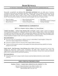 Resume Templates For Law Enforcement Resume Sample