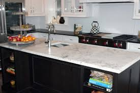 Granite Kitchen Island Orion Granite Kitchen Countertop With Cristallo Quartzite Kitchen
