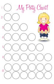 Potty Training Chart Printable Girl Potty Training Cadence The Caterpillar Years
