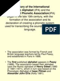 Purpose & history of the international phonetic alphabet. Brief History Of The Ipa Notation Orthography