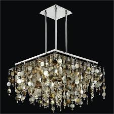 mother of pearl chandelier. Mother Of Pearl Shell Chandelier And Crystal | Cityscape 598P By GLOW® Lighting
