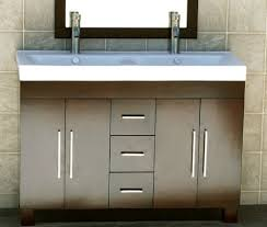 double basin vanity units for bathroom. this beautiful double sink bathroom vanity unit features a dark cherry finish. the white countertop 2 in built basins to provide basin units for o