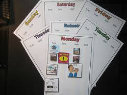 Details About Daily Timetable Routine Charts Asd Autism Visual Aids Adhd Sen Pecs Dementia